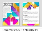 abstract vector layout... | Shutterstock .eps vector #578800714