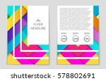 abstract vector layout... | Shutterstock .eps vector #578802691