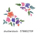 floral pattern with fantasy... | Shutterstock .eps vector #578802709