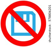 forbidden sign with floppy icon ... | Shutterstock .eps vector #578806201