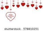 valentines day hanging... | Shutterstock . vector #578810251
