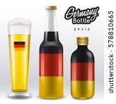 world flag wrapping on beer... | Shutterstock .eps vector #578810665