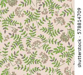 seamless floral pattern with... | Shutterstock .eps vector #578814709