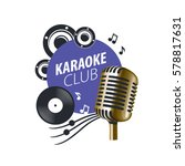 vector logo karaoke   Shutterstock .eps vector #578817631