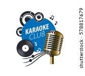 vector logo karaoke   Shutterstock .eps vector #578817679