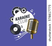 vector logo karaoke   Shutterstock .eps vector #578817775