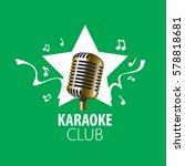 vector logo karaoke | Shutterstock .eps vector #578818681