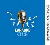 vector logo karaoke | Shutterstock .eps vector #578819239