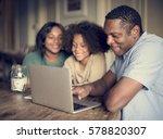 african descent family house... | Shutterstock . vector #578820307