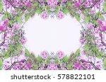 frame flower background | Shutterstock . vector #578822101
