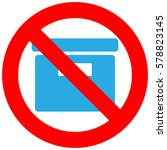 forbidden sign with box icon... | Shutterstock . vector #578823145
