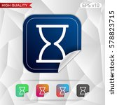 hourglass icon. button with... | Shutterstock .eps vector #578823715