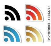 vector rss stickers   Shutterstock .eps vector #57882784
