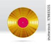 vinyl disc 12 inch lp record... | Shutterstock .eps vector #578833231