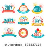 graduation 2017 badges and... | Shutterstock .eps vector #578837119