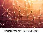 linking entities. network ... | Shutterstock . vector #578838301