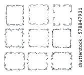 set hand drawn line border.... | Shutterstock .eps vector #578847931