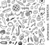 seamless vector pattern with... | Shutterstock .eps vector #578849254