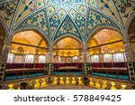Small photo of Kashan, Iran - Circa February 2016 - The interior shot of Sultan Amir Ahmad Bathhouse which was constructed in the 16th century