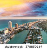 aerial view of miami beach... | Shutterstock . vector #578850169