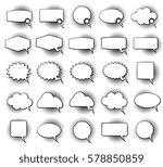 empty monochrome speech comic... | Shutterstock .eps vector #578850859