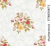 seamless floral pattern with... | Shutterstock .eps vector #578850871