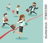 business men and women run and... | Shutterstock .eps vector #578851585