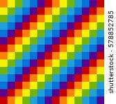 rainbow pixel seamless pattern. ... | Shutterstock .eps vector #578852785