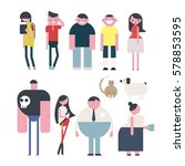 people character vector... | Shutterstock .eps vector #578853595