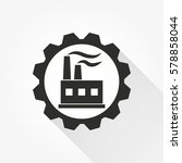 factory vector icon with long... | Shutterstock .eps vector #578858044