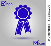 badge with ribbons icon. award ... | Shutterstock .eps vector #578861209