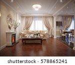 luxury classic interior of...   Shutterstock . vector #578865241