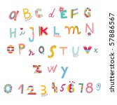 Colorful Alphabet And Numbers...