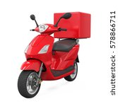 Motorcycle Delivery Box. 3d...