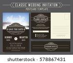 classic vintage wedding... | Shutterstock .eps vector #578867431