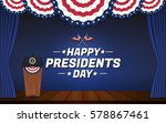 happy presidents day background.... | Shutterstock .eps vector #578867461