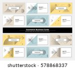 geometric business cards with... | Shutterstock .eps vector #578868337