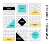 geometric pattern background.... | Shutterstock .eps vector #578869015