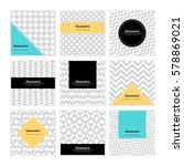 geometric pattern background.... | Shutterstock .eps vector #578869021