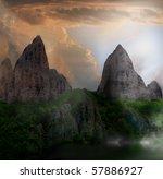 Fantasy Mountain Landscape