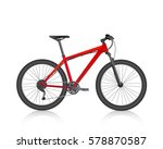 bike mountain red vector | Shutterstock .eps vector #578870587