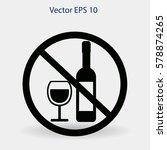 no alcohol vector icon | Shutterstock .eps vector #578874265