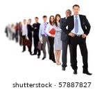 business man and his team...   Shutterstock . vector #57887827