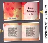 brochure template with love... | Shutterstock .eps vector #578883295