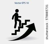 career ladder vector icon | Shutterstock .eps vector #578885731