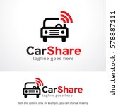 car share logo template design... | Shutterstock .eps vector #578887111