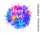 watercolor happy holi and... | Shutterstock .eps vector #578887831