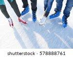closeup top view of legs in... | Shutterstock . vector #578888761