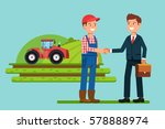 the meeting  businessmen... | Shutterstock .eps vector #578888974