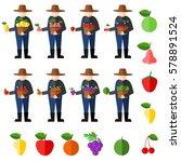 fruit farmers vector | Shutterstock .eps vector #578891524
